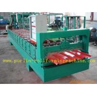 Quality High Speed Glazed Tile Cold Roll Forming Machine 0 - 20 m/min Red Roofing Panel or Customized wholesale