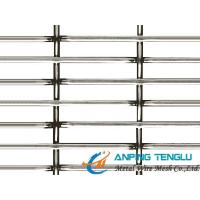 Cheap Rectangle/Slot Hole Crimped Wire Mesh/Screen for Facade, Vibering Screen for sale