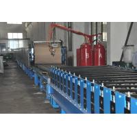 Quality Automatic Polyurethane Sandwich Panel Manufacturing Line With 1220mm Coil Width wholesale