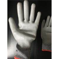 China 13 gauge Knitted Cut level 3 coated PU palm gloves/Cut resistant gloves on sale