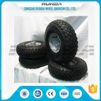Quality Small Size Pneumatic Rubber Wheels , Pneumatic Swivel Caster Wheels 136KG In 2PR wholesale