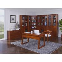 Cheap Nanmu solid wood Home office study room furniture set by Tall storage bookcase cabinet and office reading desk Chair for sale