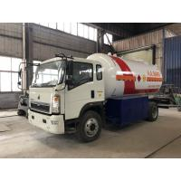 China HOWO 4 X 2 7 Tons LPG Tanker Truck Propane Gas Bobtail Tanker 15M3 15000L on sale