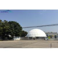Customized 20m Round Geodesic Dome Tent  With 850g/sqm Pvc Cover