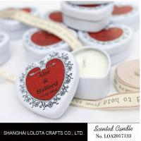 Quality Heart Shaped Travel Tin Soy Candles With Red Printing Logo / One Cotton Wick wholesale