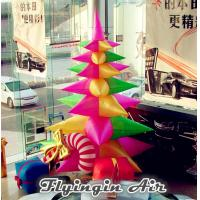 Cheap Multi-color Inflatable Christmas Tree, Decorative Christmas Inflatables for Sale for sale
