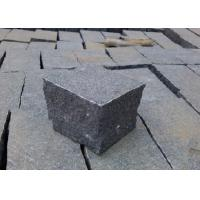Quality Natural Split Black Outdoor Paving Stones , Granite Grey Black Paving Stones wholesale