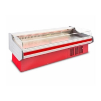 China Top Open 200L 8ft Deli Meat Display Case For Store on sale