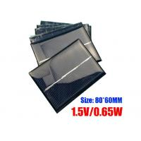 Quality 60 X 80mm Dimension Polycrystalline Silicon Solar Panels For Portable Garden Light wholesale