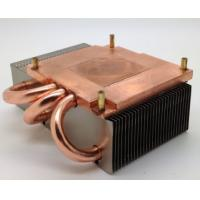 Quality 120W Copper Base Plate Aluminum Fin Copper Pipe Heat Sink For CPU Cooling wholesale