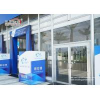 China Transparent Outdoor Exhibition Tents Heat Resistant Glass Wall on sale