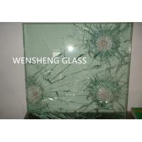 Quality Grinded Edges Clear Laminated Bullet Proof Glass Doors ISO / CE wholesale