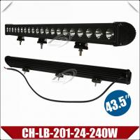 "Quality 43"" 240W Spot/Flood LED Light Bar,CREE Single Row Bar Light,High Power Auxiliary Lighting Lamp (CH-LB-201-24-240W) wholesale"