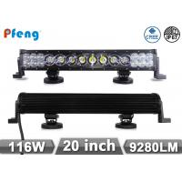 Quality 3W 10W CREE In One Bar Hybrid 20 116W  Led Light Bar Spot Flood Combo Beam wholesale