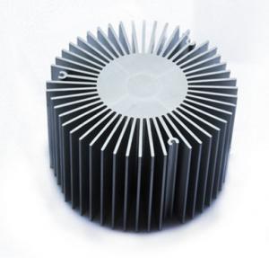 Quality Led Aluminium Heatsink Extrusions , Silvery / Black Anodized Extruded Aluminium Profiles wholesale