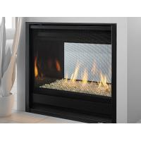 Quality Double Sided Gas Fireplace 36 Inches / See Through Gas Fireplace Black Grey Color wholesale