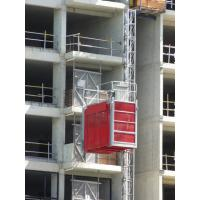 Quality Electric Building / Construction Material Lifting Hoist Single Cage with Cable Trolly wholesale