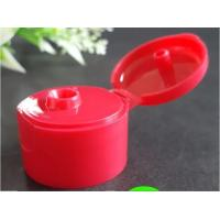 China Red Bottle Flip Cap Durable Body / Natural Color Dispensing Caps For Liquid Containers on sale