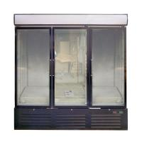 Buy cheap White / Black 3 Glass Door Commercial Refrigerator Freezer With Large Display from wholesalers