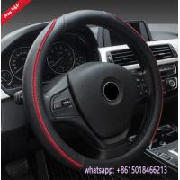 Quality Peru hot sell black red M size S size L size car steering wheel covers wholesale