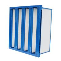 Buy cheap Plastic Frame V Bank Pocket Air Filter H10 Hepa Filter With High Air Volume from wholesalers