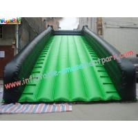 China Green Color Wide Long Commercial grade 0.55mm PVC tarpaulin Inflatable Slide for rent on sale