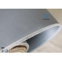 Quality Double-sides 1.5m*50m 0.45mm Gray Silicone Coated Fiberglass Fabric Welding Curtain wholesale