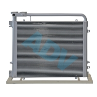 China Chinese Manufacturer Custom Design Aluminium Bar Plate Heat Exchanger For Construction Machinery Cooling on sale