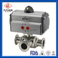 China Dust Proof Sanitary Stainless Steel Valves Strong Fully Welded Ball Valve on sale