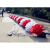 Buy cheap 10m Inflatable Flower Chain with White and Red Flowers for Wedding product