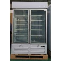 Buy cheap Double Glass Door Commercial Refrigerator , Drink Display Cooler With LED Light Box from wholesalers