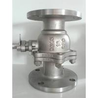 Quality 2PC Flanged Ball Valve SS316 ANSI B16.10 Flanged OD BS4504 undrilled wholesale