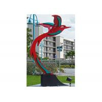 Quality Custom Modern Painted Public Art Stainless Steel Flying Bird Sculpture wholesale