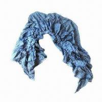 China Elastic Crinkle Woven Cotton Scarf on sale