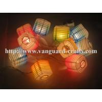 Led String Lights For Paper Lanterns : printed square paper lanterns LED decoration string lights lantern string lights - 104038390