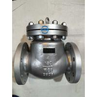 China Silver Surface Cast Steel Swing Check Valve 2 - 48 Size ANSI B16.5 Flange Connection on sale