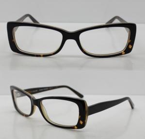 Quality Rectangle Black / Clear Acetate Mens Eyeglasses Frames For Promotion wholesale