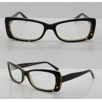 Quality Rectangle Black / Clear Acetate Mens Eyeglasses Frames For Promotion wholesale