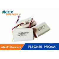 Quality PL103450 1900mAh 3.7V lithium battery with PCM wholesale