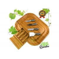 Quality Appetizers & Crackers Bamboo Cheese Serving Set , Wooden Cheese Platter Board wholesale