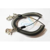 Quality Heavy Duty Coil Tool Lanyard , High Security Coiled Security Tethers Load 15KG wholesale