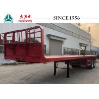 China Heavy Duty 45 Foot Flatbed Trailer With Bogie Suspension For Kuwait Transportation on sale