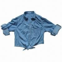 Quality Long-sleeved Blouse for Ladies, Made of 100% Cotton, Washable Garment wholesale