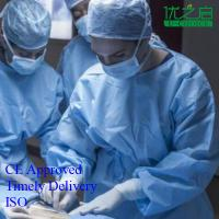 China Non Woven Disposable Surgical Gown Fluid Resistant CE / ISO / FDA Listed on sale