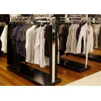 Quality Elegant Modern Style Store Clothing Racks Wooden And Stainless Steel Material wholesale