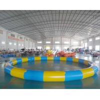 Quality Round Inflatable PVC Swimming Pool , 3.5M*3.5M PVC Inflatable Pool For Beaches wholesale