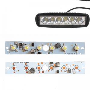 China Custom LED Ligh Board 18W Driver Integrated 6 LED PCB Board Lens DC12-80V for LED Work Lights Parts on sale