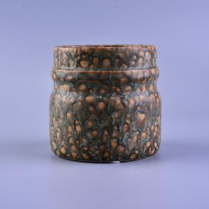 Quality Transmutation Glaze Ceramic Candle Jar wholesale
