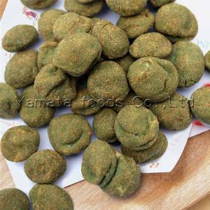 China Wasabi roasted coated peanuts flat shape on sale