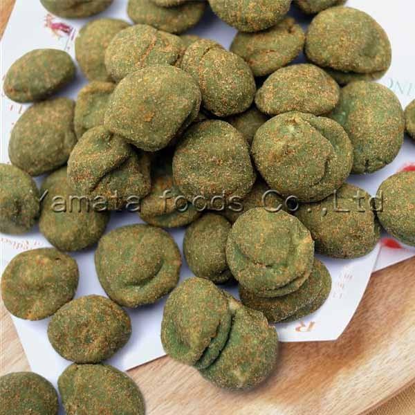 Cheap Wasabi roasted coated peanuts flat shape for sale